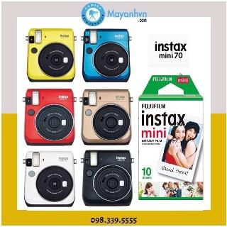Máy chụp ảnh lấy ngay Fujifilm Instax Mini 70( Chính Hãng- Bảo hành 12 tháng) + 1 pack film/ 10 tấm ảnh