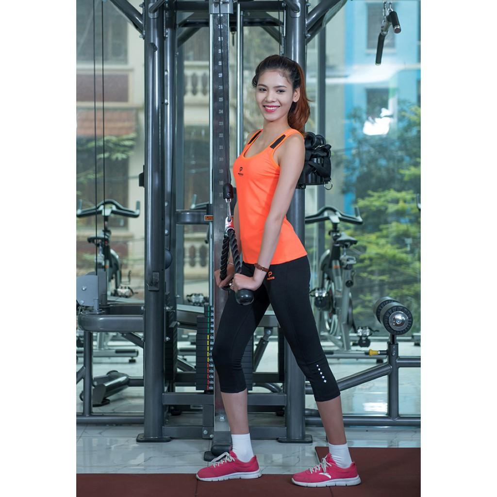 Áo thể thao sát nách nữ Donex Proning (tập gym, thể dục, yoga…)-Cam phối đen - 2897530 , 548757265 , 322_548757265 , 161000 , Ao-the-thao-sat-nach-nu-Donex-Proning-tap-gym-the-duc-yoga-Cam-phoi-den-322_548757265 , shopee.vn , Áo thể thao sát nách nữ Donex Proning (tập gym, thể dục, yoga…)-Cam phối đen