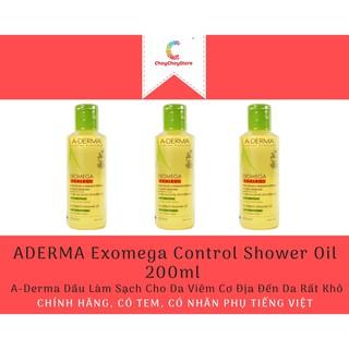 [CHÍNH HÃNG CÓ TEM] ADERMA Exomega Control Shower Oil 200ml - A-Derma Dầu Làm Sạch Cho Da Viêm Cơ Địa Đến Da Rất Khô thumbnail