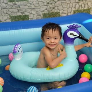 Phao bơi trẻ em chống lật hình thú-phao xỏ chân hình THIÊN NGA XANH