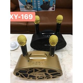Loa bluetooth, loa karaoke mini XY-169 kèm 2 mic không dây, đổi mới trong vòng 7 ngày, bảo hành 12 tháng thumbnail