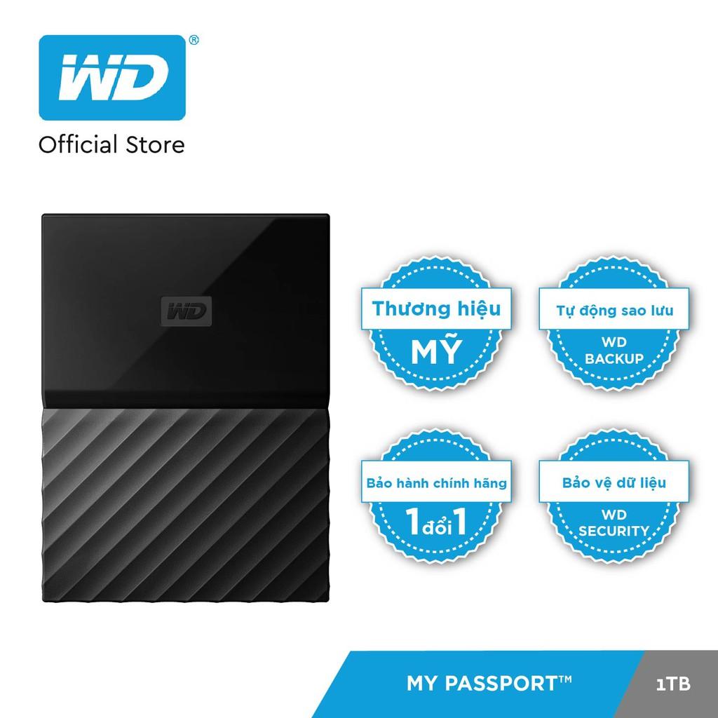 Ổ cứng WD My Passport 2.5 INCH 1TB Portable (Đen)- Hãng Phân Phối Chính Thức