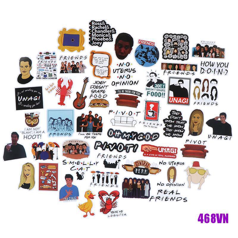 [DOU]50Pcs Friends stickers DIY scrapbooking album luggage laptop phone decal