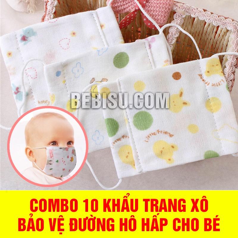 Combo 10 khẩu trang xô bảo vệ đường hô hấp cho em bé