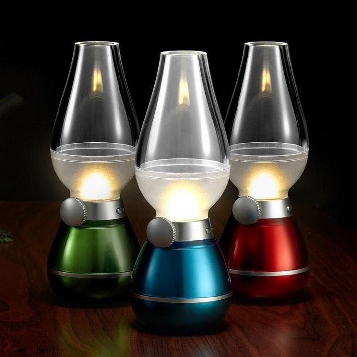 [24/7 Shopee trợ giá] Đèn dầu không khói cảm ứng khi thổi LED -DC1288