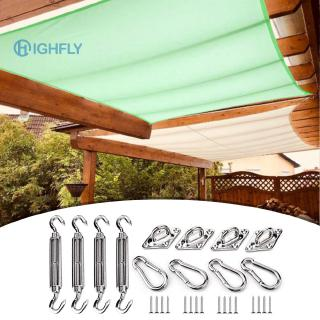4pcs Installation Hardware Sun Shade Sail Mounting Kit Stainless Steel Tent Awning Fixing Accessories