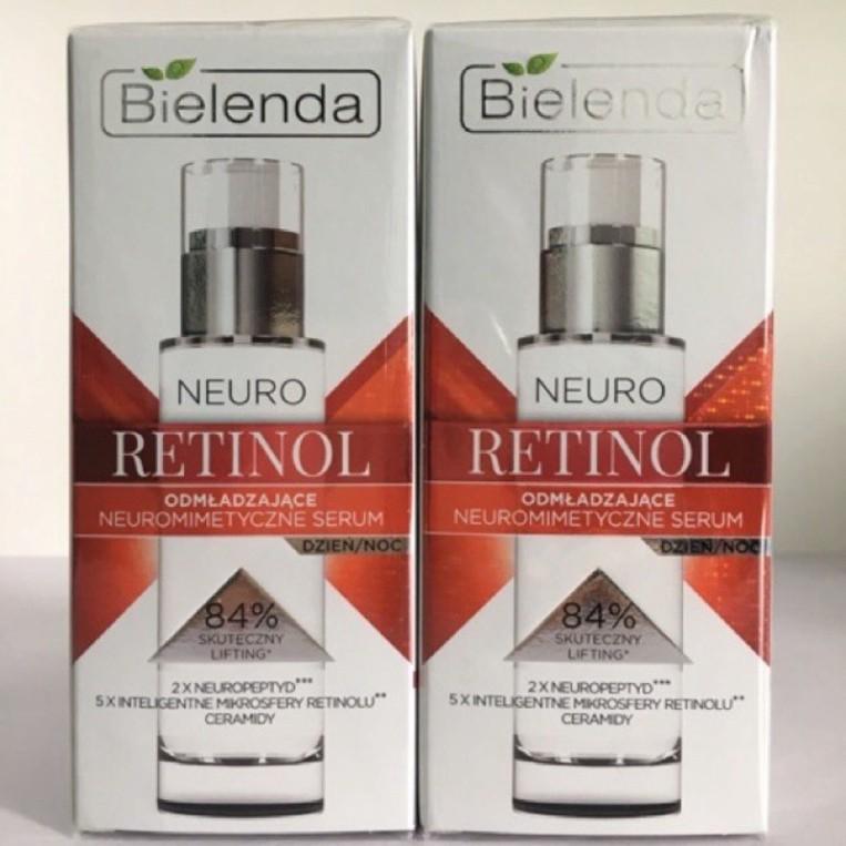 Serum Bielenda Neuro Retinol Và serum Glicol + Vit.C