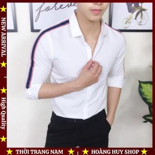 Áo Sơ Mi Nam H&H-SMVT005 Phối Viền Sọc đẹp tuyệt vời giá hạt dẻ mà chất lượng tuyệt đỉnh nhé anh em ơi