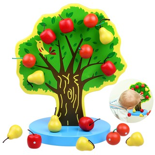 Kid's Educational Toy DIY Apple Tree Funny Learning Toy Early Teaching Toy