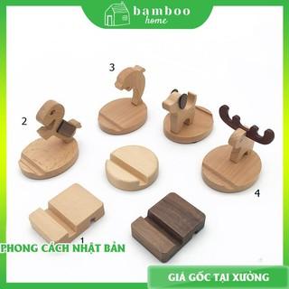 Giá đỡ điện thoại - Kệ đỡ điện thoại bằng gỗ nhiều hình dáng - The Bamboo