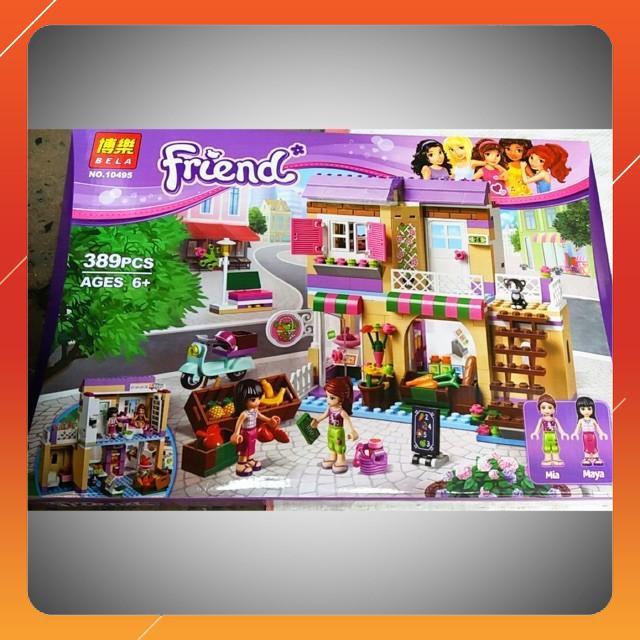 [Siêu Sock] Bộ lego friends 10495-389 chi tiết Siêu thị thực phẩm