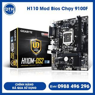 Main Msi, Giga H110 đã Mod Bios chạy được i3 9100F (mã 7W) / Chính Hãng Đã Qua Sử Dụng