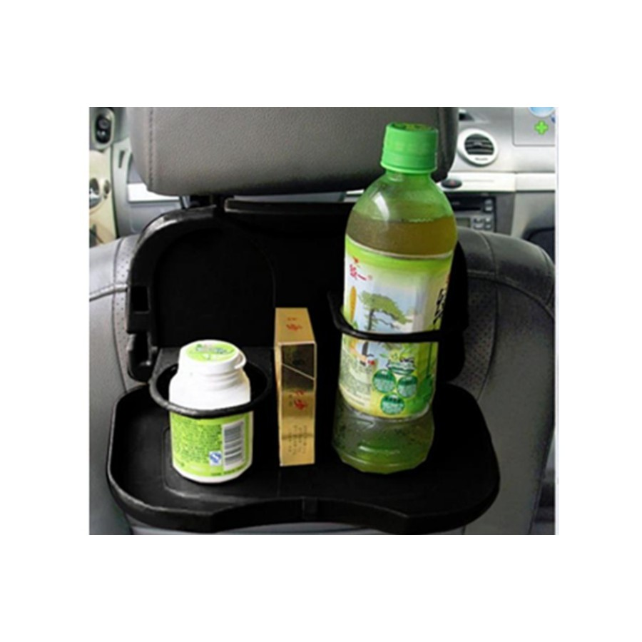 Khay đựng đồ ăn nước uống trên ô tô HQ206106-2(đen)