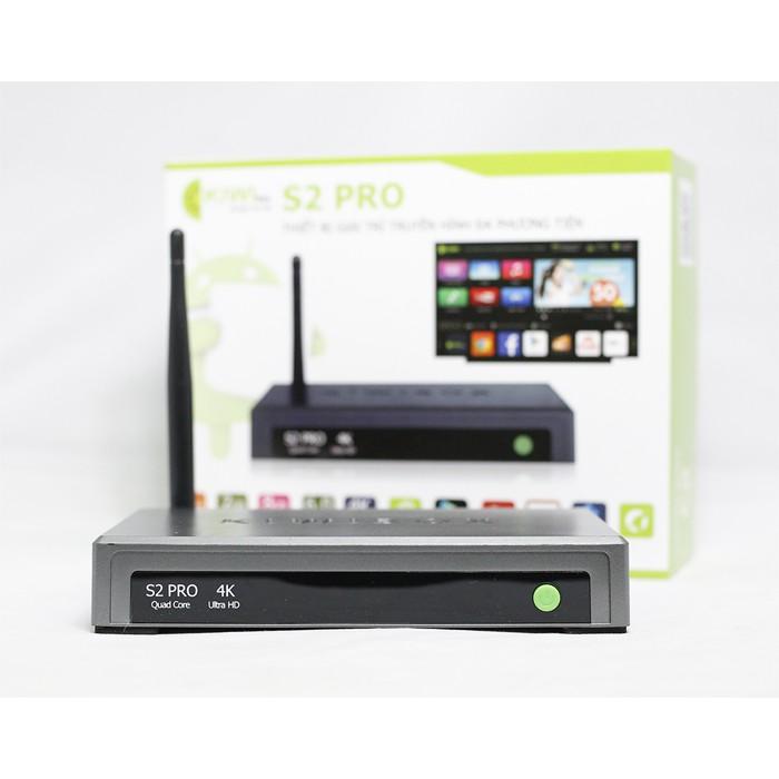 Tivi Box Android Kiwi Box S2 Pro - Bảo hành 12 tháng chính hãng