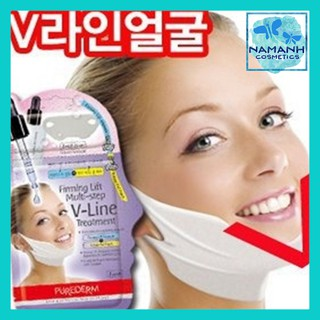 Set 3 mặt nạ nâng cơ, giảm mở thừa tạo hình khuôn mặt Purederm V-Line Firming Lift Multi-step V-Line Treatment 10g thumbnail