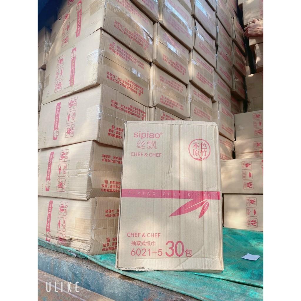 1 Gói 270 tờ giấy ăn Gấu trúc Sipiao SIZE NHỎ siêu dai