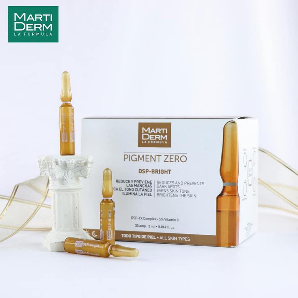 🎁QUÀ TẶNG 640K🎁] Dưỡng sáng da chuyên sâu, mờ đốm sắc tố với MartiDerm  Pigment Zero DSP Bright Ampoule   Shopee Việt Nam