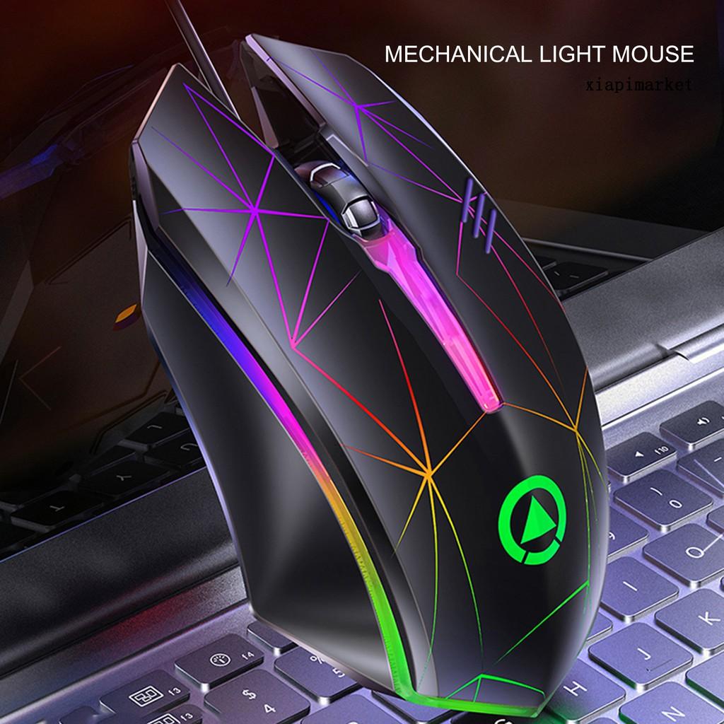 Chuột Chơi Game G6 1200 Dpi Có Đèn Nền Nhiều Màu Cho Laptop / Máy Tính