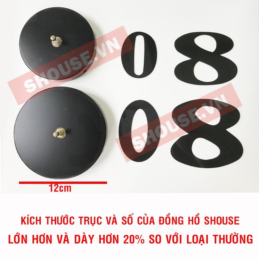 Đồng Hồ Treo Tường Dán Tường 3D cao cấp trang trí loại lớn treo phòng khách Ā