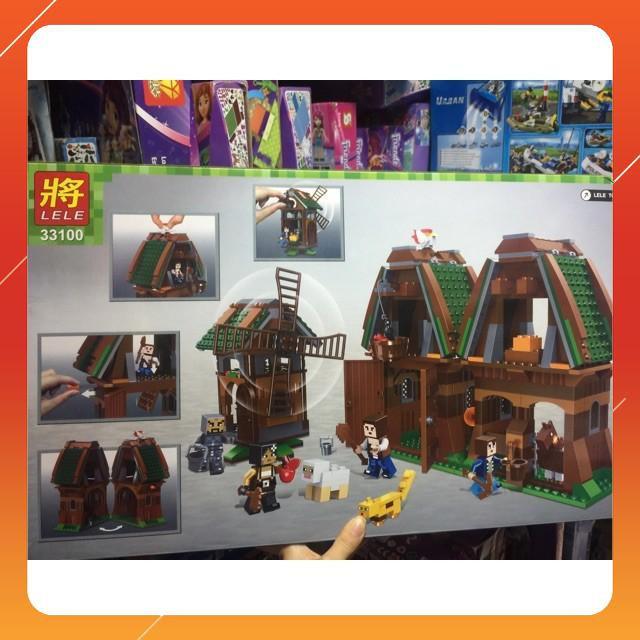 [Siêu Sock] Lego my world minecraft 33100 nông trại