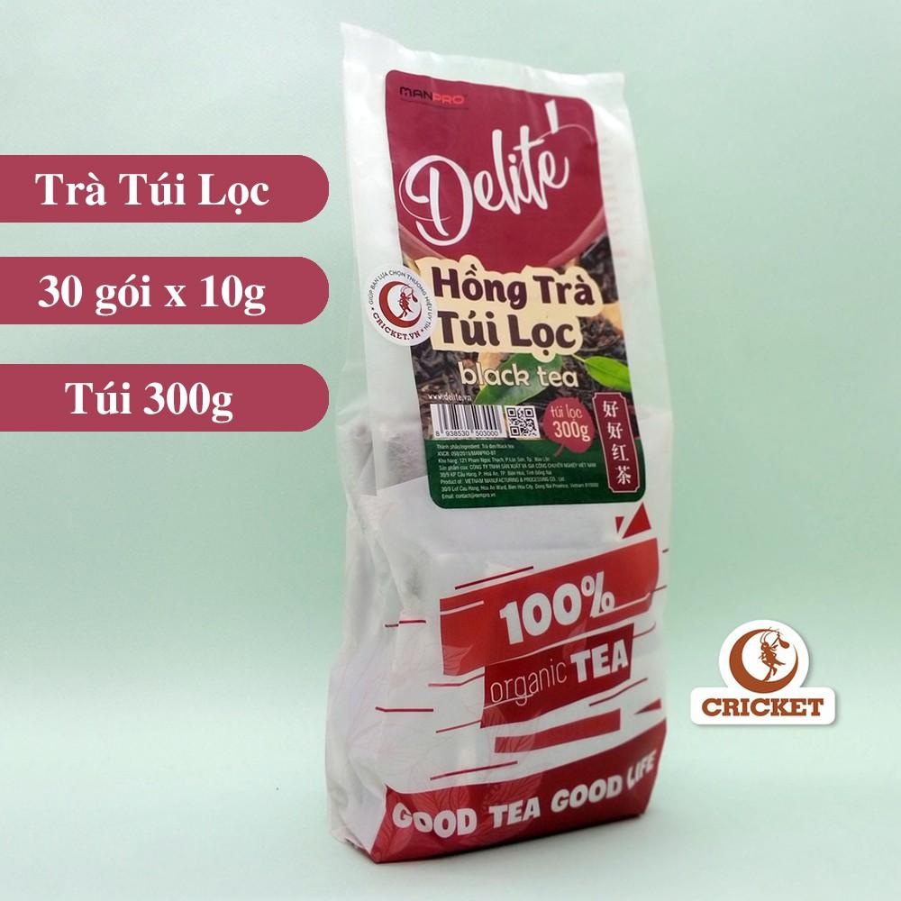 Hồng trà túi lọc CAO CẤP DELITE (300g) _ Hàng Chuẩn Xuất Khẩu - Nguyên liệu làm trà sữa siêu nhanh & thơm ngon
