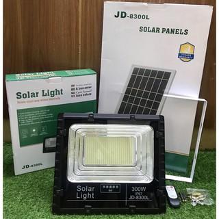 [JD-8300L] Đèn Năng Lượng Mặt Trời JinDian JD-8300L Công Suất 300W – Mẫu Mới 2020, Khung Nhôm