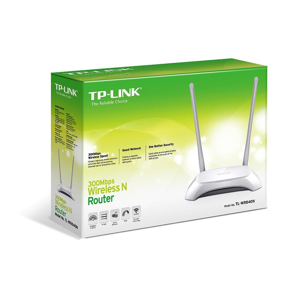 Bộ Phát WIFI TPLink 300Mbps 2 Ăng Ten 840N