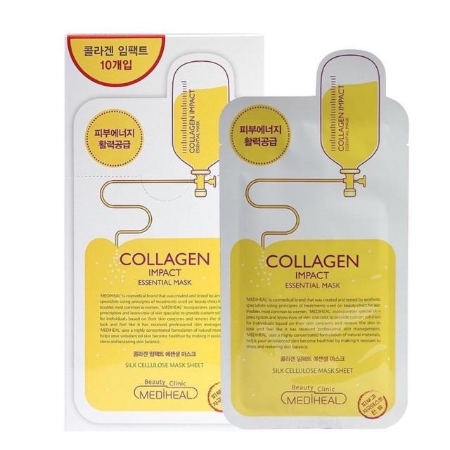 Bộ 10 gói Mặt nạ dưỡng ẩm ngăn ngừa lão hóa da Mediheal Collagen Impact Essential Mask