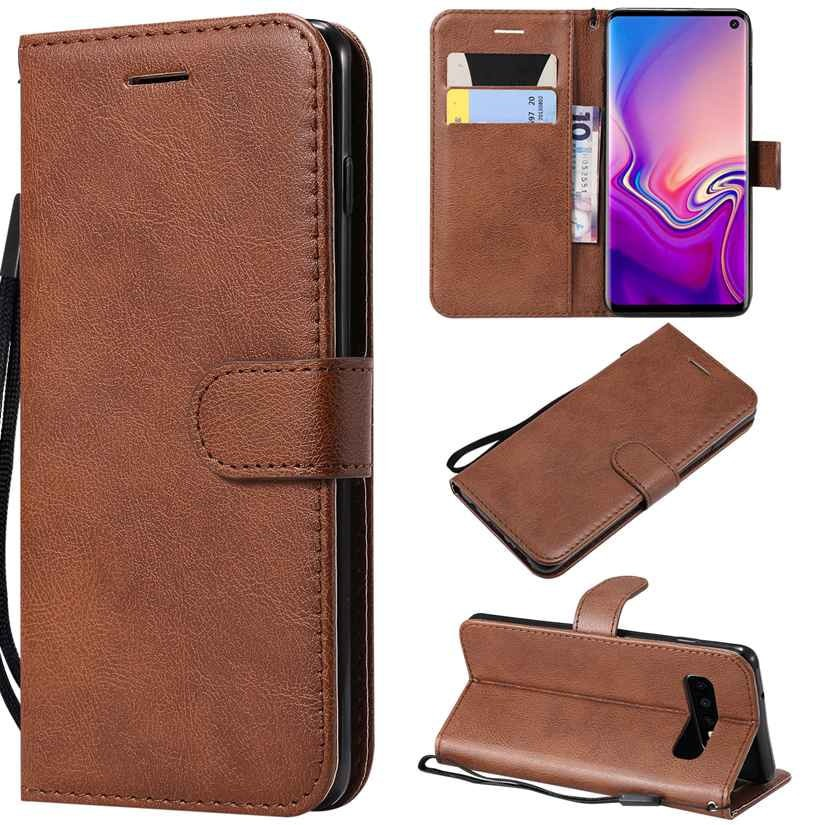 For Samsung Galaxy S10 Flip Simple Leather Wallet Cell Case