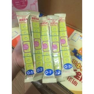 [Bán lẻ] Sữa Meiji thanh cho bé số 0/1, thanh 27g date 2022