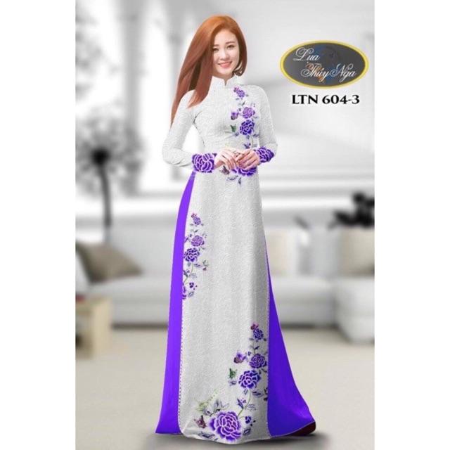 Vải áo dài trắng in hoa - 2993544 , 1053222404 , 322_1053222404 , 240000 , Vai-ao-dai-trang-in-hoa-322_1053222404 , shopee.vn , Vải áo dài trắng in hoa