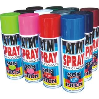 Sơn xịt ATM Spray Đủ Màu Giá sỉ (Mầu gì k có trong bảng các bạn nt hỏi mầu nhé)