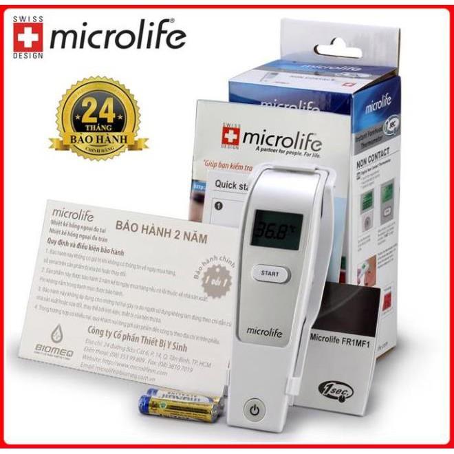 [Đo nhanh , Chính Xác Trong 1 Giây] Nhiệt kế hồng ngoại đo trán Microlife FR1MF1 - Hàng Thụy Sĩ