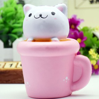 PU Cat Toy Squishy Cupcake Cat Cute Kitty Squeeze Toys Gifts lifestar