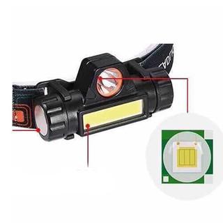VBC ✔️✔️ đèn pin Đội Đầu 3 Bóng Led T6- Siêu Sáng, Kèm 2 Pin, Kèm Sạc 11 12