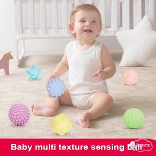 Baby Boy's Girl's Bite Soft Massage Ball Toys (6 Pcs)
