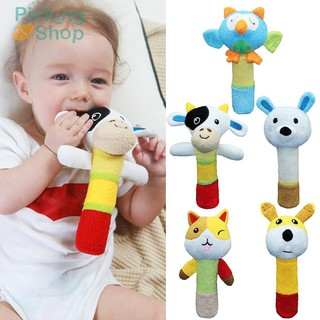 Baby Kids Rattle Toys Cartoon Animal Stroller Crib Hand Bell Appease Toy