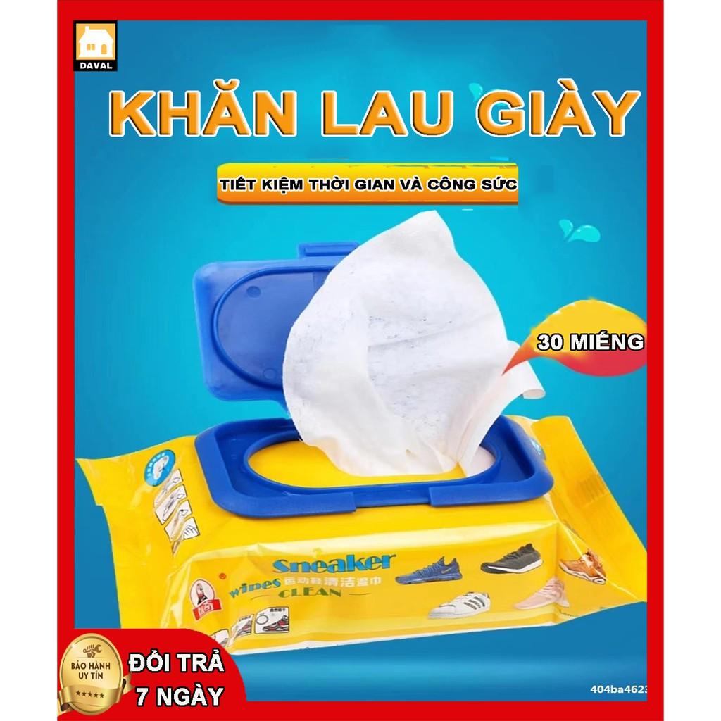 Vệ sinh giày⭐SNEAKER Khăn Giấy Lau Giày⭐ siêu sạch Hộp 30 Tờ Không Hoá Chất Làm Hại Vải KG01