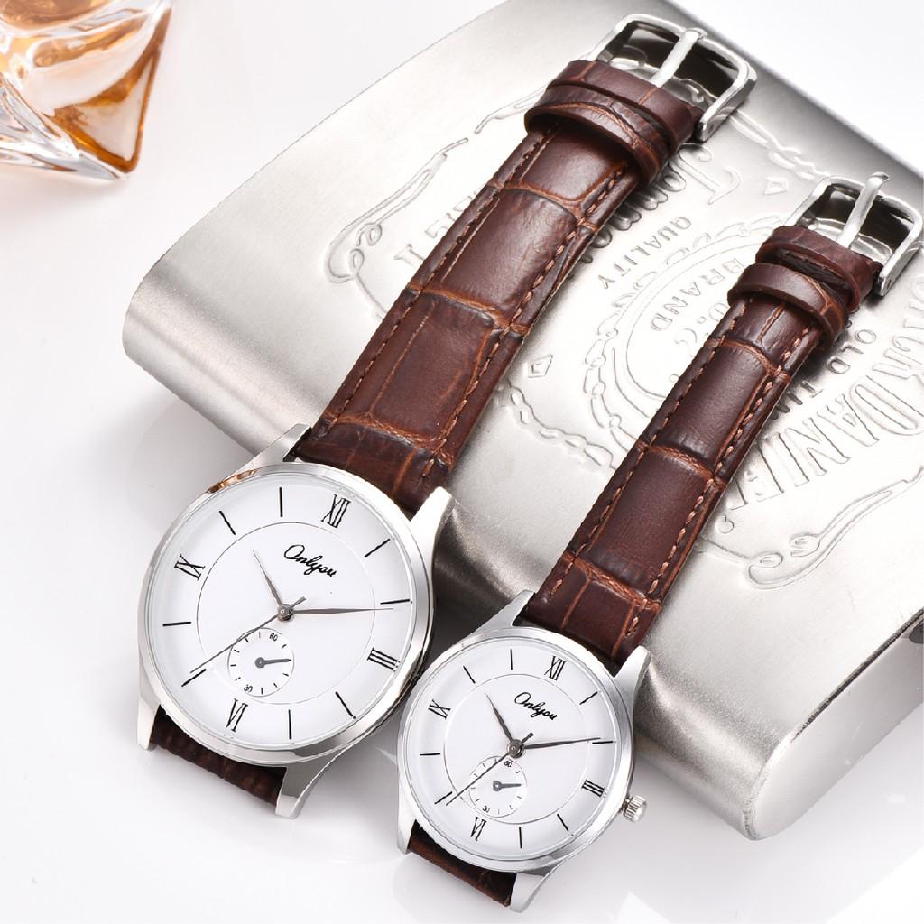 Đồng hồ Onlyou Nam 8891GA Dây da 38mm