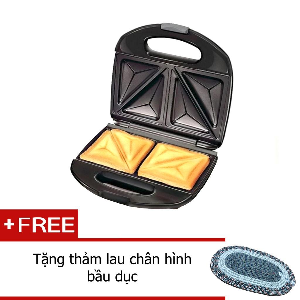 Máy nướng bánh tam giác tặng thảm lau hình bầu dục