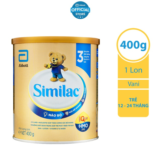 [ CHÍNH HÃNG ] Sữa bột Similac Eye-Q 3 400g HMO Gold Label