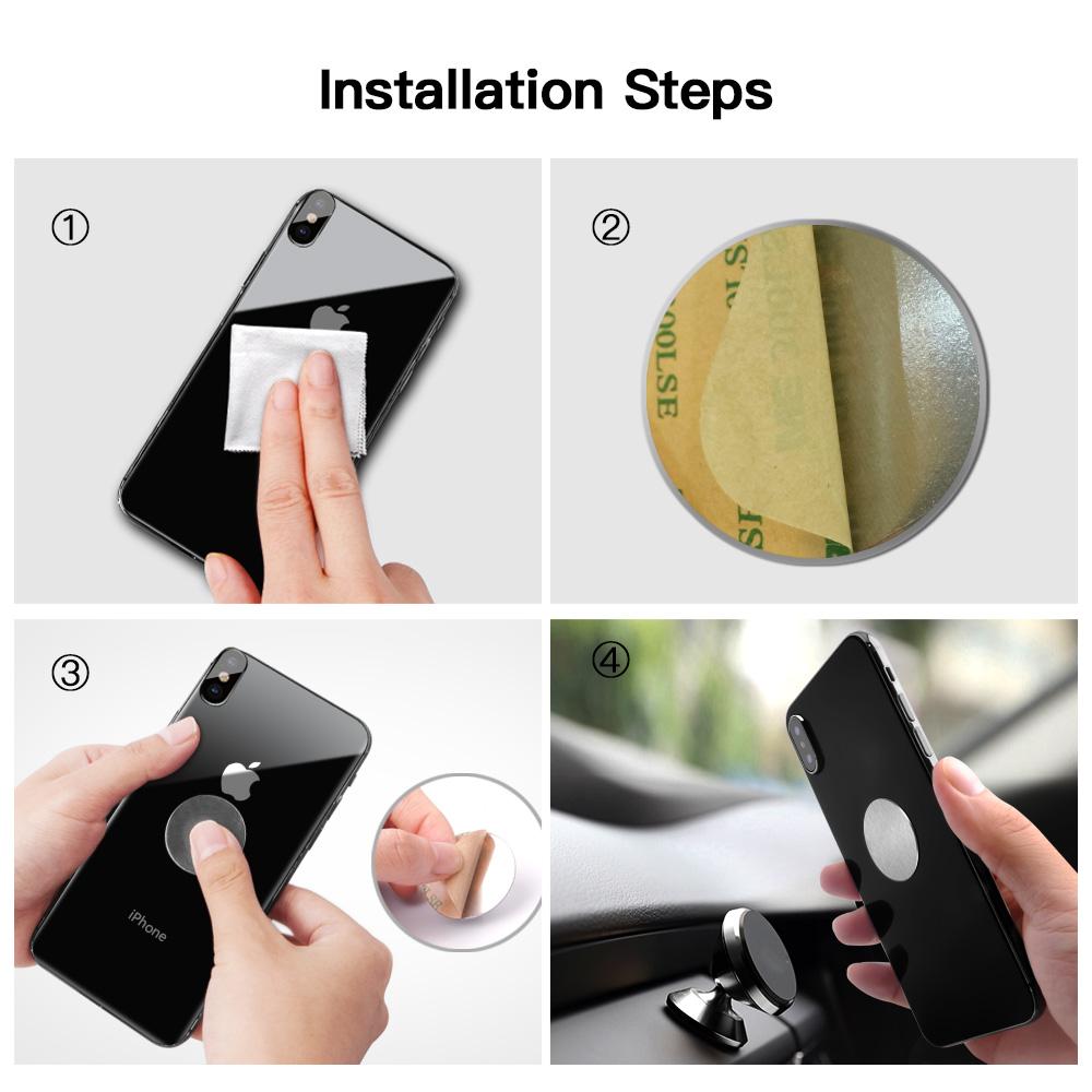 Tấm kim loại từ tính cho giá đỡ điện thoại trên ô tô