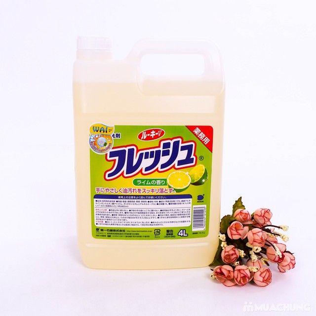 Nước rửa chén WAI Nhật Bản hương chanh 4L