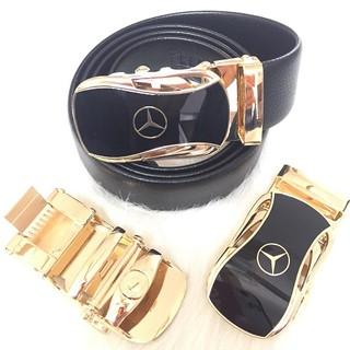 Thắt Lưng Nam Cao Cấp Hàng Hiệu Mercedes-Benz Khoá Vàng Bạc, Dây Nịt Nam Da Bò 100% Đẳng Cấp Nam Tính Chính Hãng GG1000
