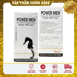[Che Tên Khi Giao] Bao Cao Su Cá Ngựa Bạc Powermen Longer Plus Kéo Dài Thời Gian Quan Hệ Có Bi Hộp 12 Chiếc