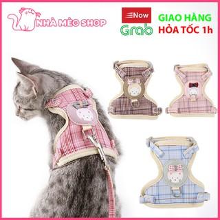 Dây dắt dạng yếm đai áo ngực cho chó mèo thumbnail