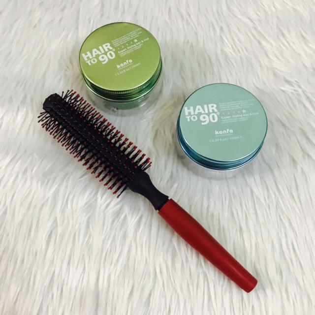 Combo 2 sáp vuốt tóc Kanfa Nhật + lược