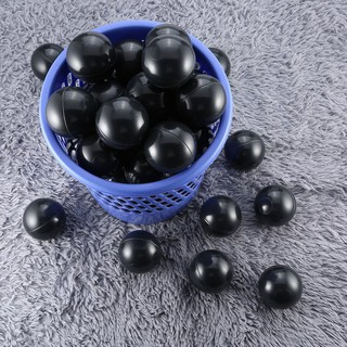 【Kiss】50 Pcs 7CM Baby Anti Stress Ocean Ball Safe Plastic Black Grey White Balls