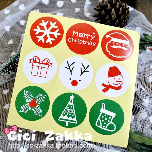 ch đoạn 270 khởi động Giáng sinh tuyết bán buôn và các yếu tố khác của dán niêm phong tròn / dán món quà / dán trang trí