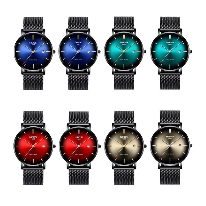 [Tặng vòng tay] Đồng hồ nam NIBOSI chính hãng NI2362.03 Fullbox dây đeo hợp kim cao c